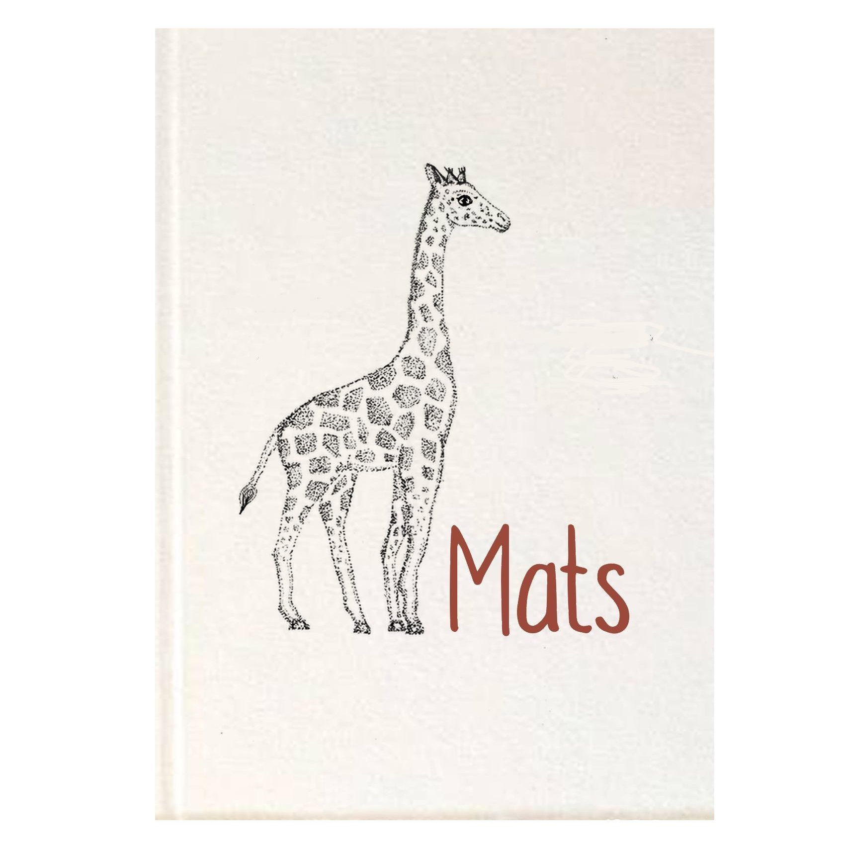 Knapzak Design - Geboortekaartje Giraffe voorkant