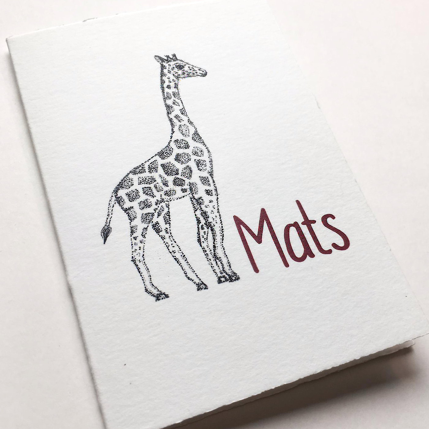 geboortekaartje Giraffe voorkant