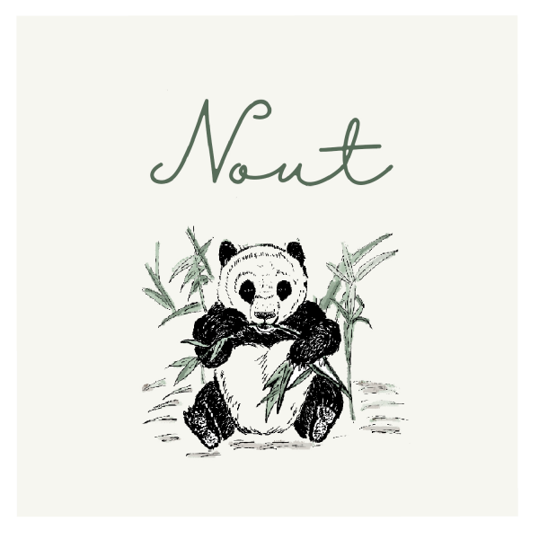 Geboortekaartje dieren pandabeer achterkant