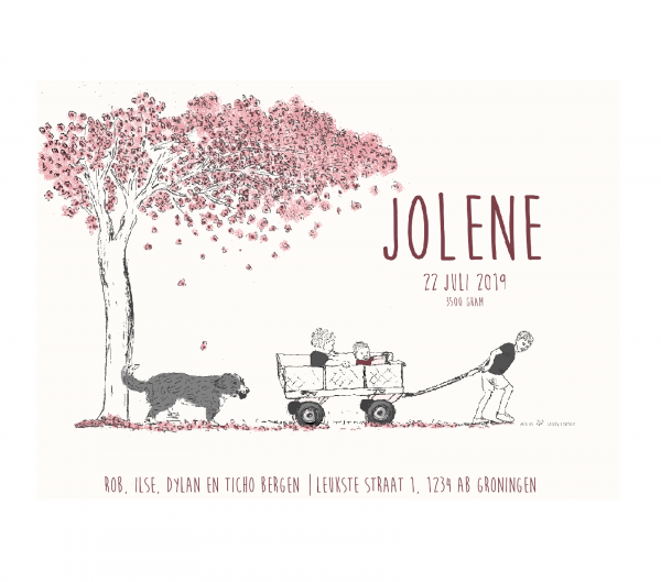 GEboortekaartje Jolene