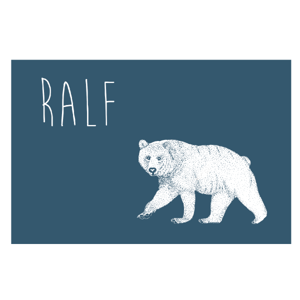 geboortekaartje ijsbeer voorkant