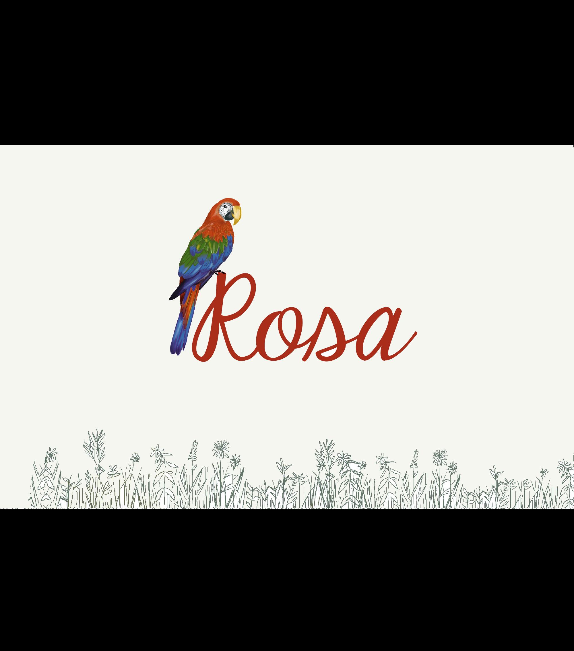 Geboortekaartje Rosa papegaai duurzaam