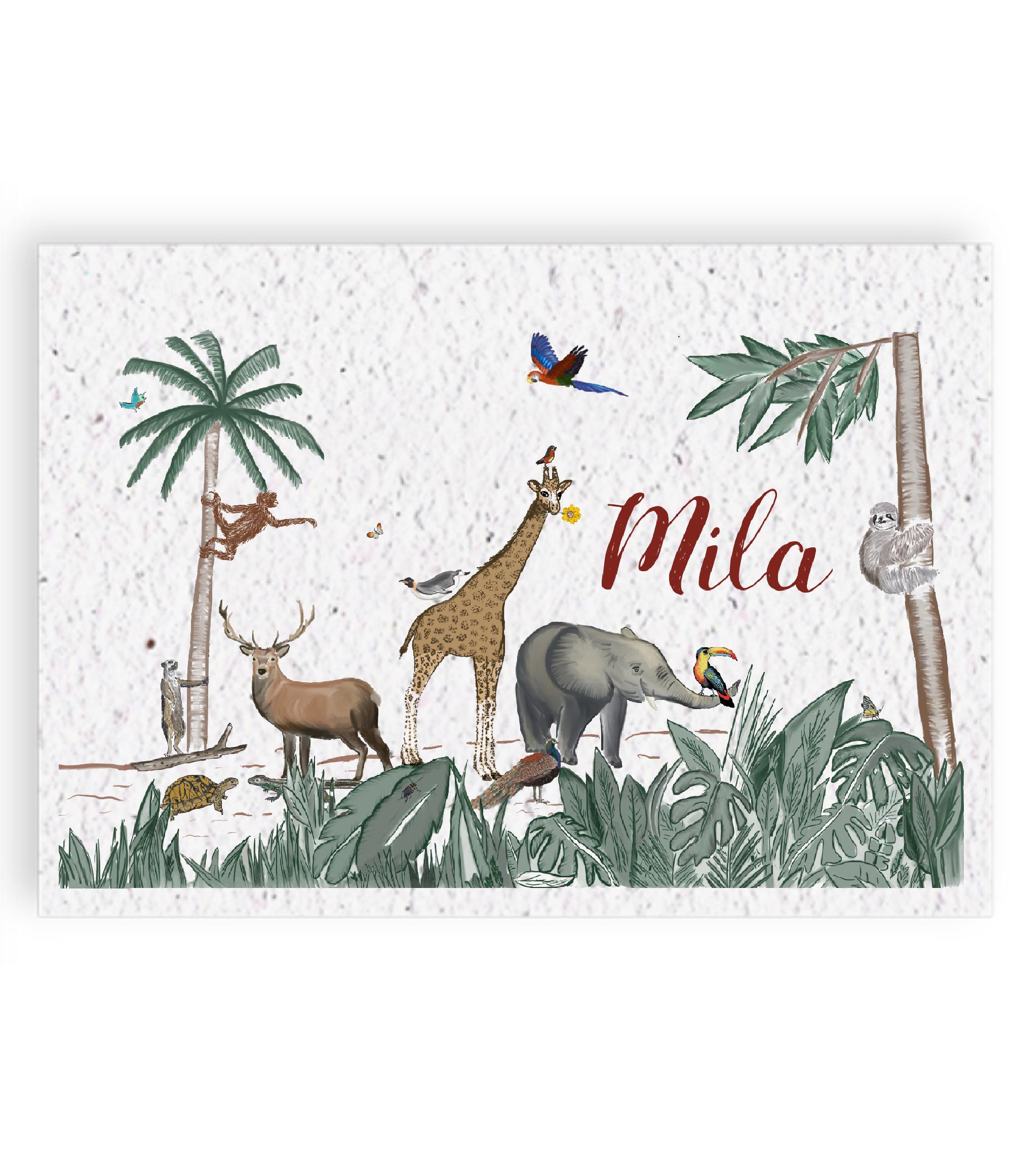 Geboortekaartje voorkant Mila