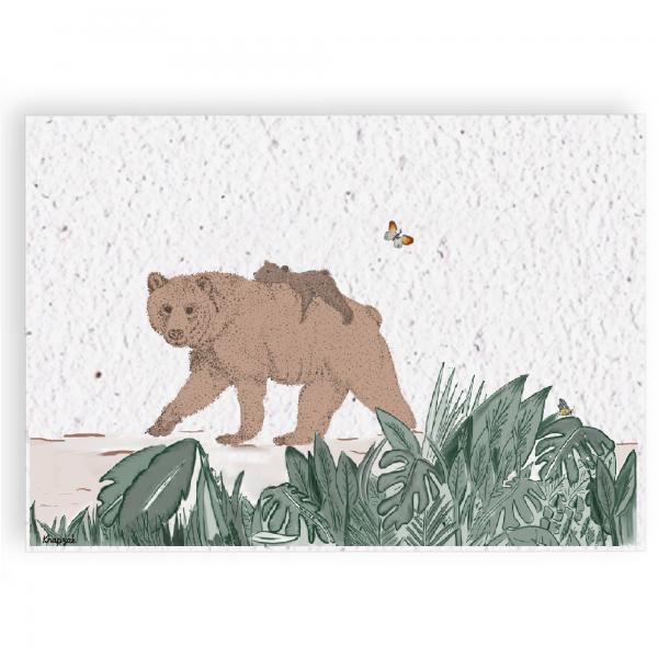 Groeikaart moederbeer en kleine beer