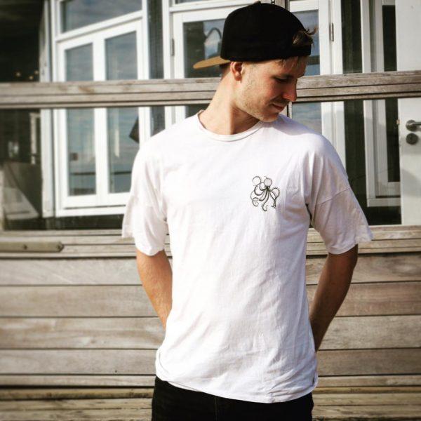 secondhand clothes t-shirt wit unisex, man