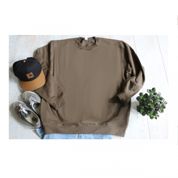 Tweedehands sweater knapzak olijfgroen