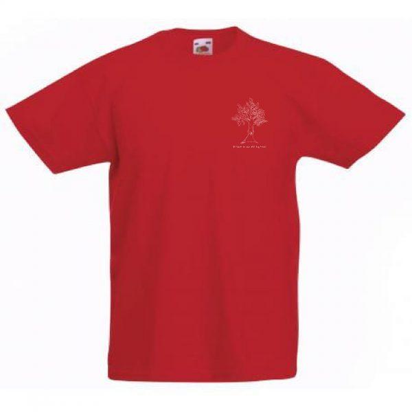 Tweedehands t-shirt knapzak boom knuffelen