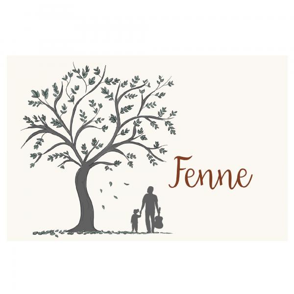 Duurzaam geboortekaartje dubbel voorkant Fenne