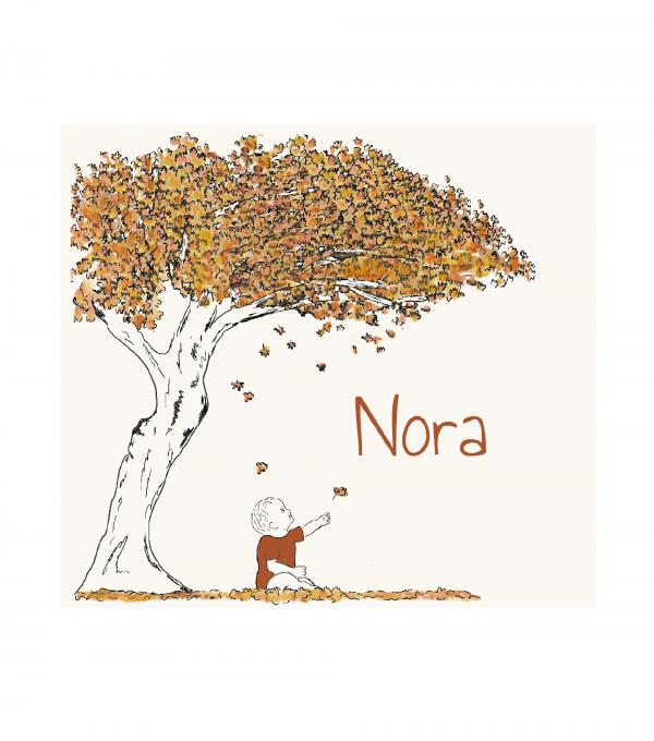 geboortekaartje Nora voorkant
