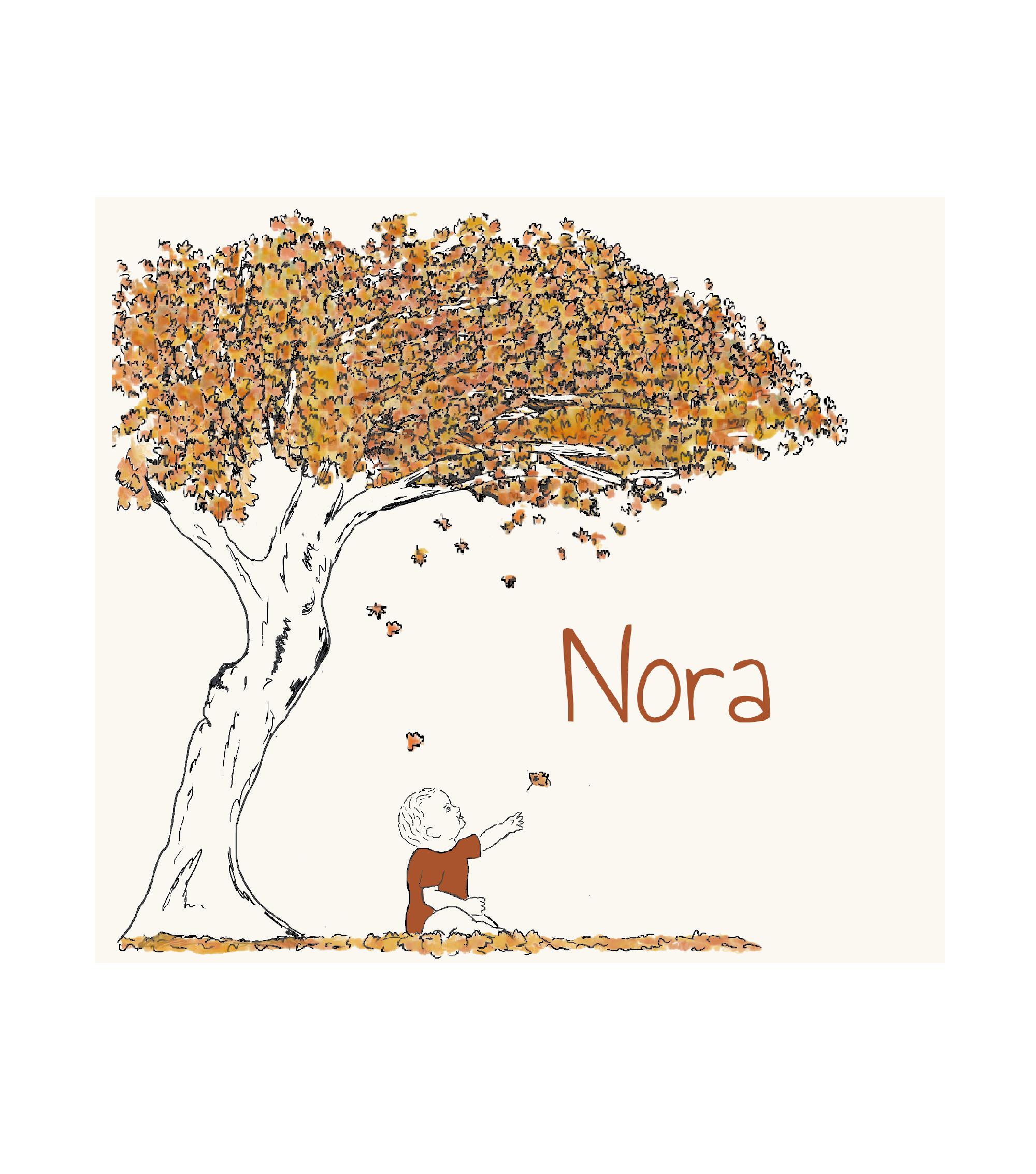 Duurzaam geboortekaartje dubbel voorkant Nora