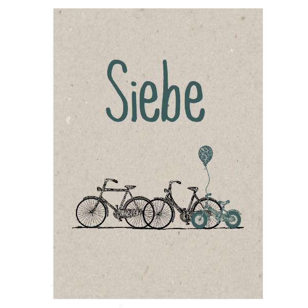 Duurzaam geboortekaartje enkel voorkant Siebe