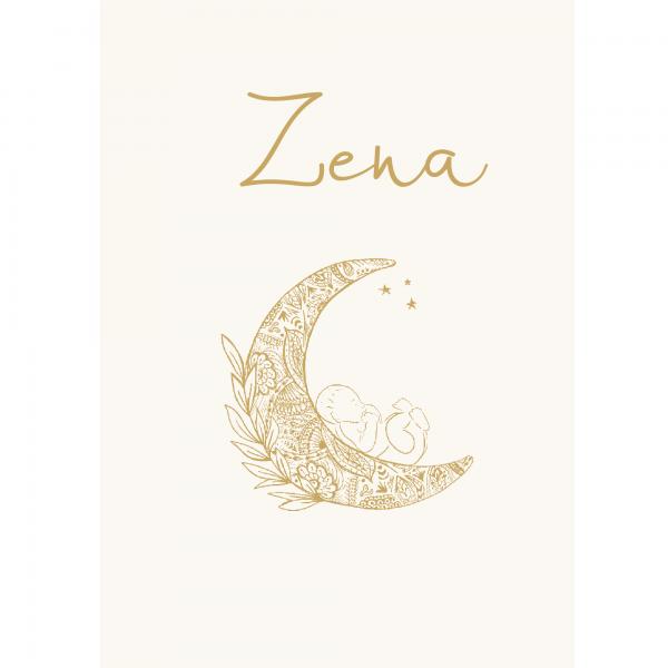 Duurzaam geboortekaartje Zena voorkant