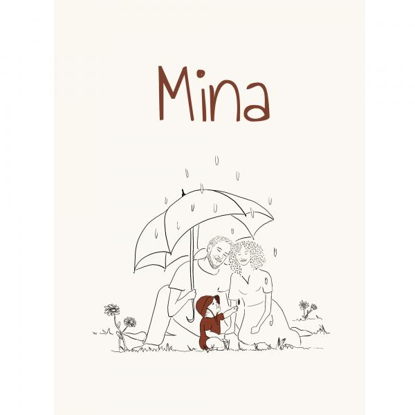 Geboortekaartje Mina voorkant duurzaam