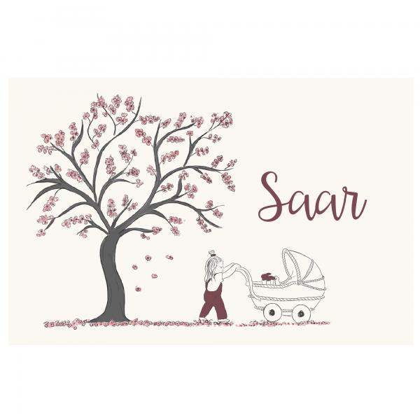 Duurzaam geboortekaartje Saar Voorkant
